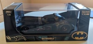 1:18 Batman Batmobile Battle-Damaged Limited Edition Hot Wheels Metal Collection
