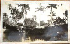 Isla de Pinos/Isle of Pines, Cuba 1930s Realphoto Postcard: Cascada de Santa Fe