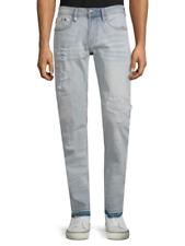 Men's Buffalo David Bitton Jeans Super Bleach Distressed Evan-X Slim 34 X 32