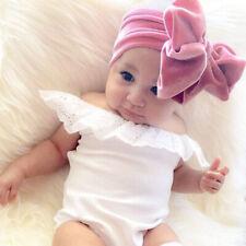 Baby Girls Big Bow Hairband Headband Turban Elastic Bowknot Soft Velvet Headwrap