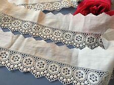 Broderie Anglaise ancienne Coton 280 cm x 8 cm Couture Création Réf: BA/13