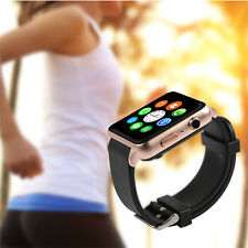 2017 Bluetooth Smart Watch Phone With SIM SD Card Slot for Android and IOS Gold
