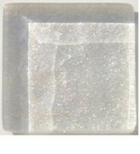 White Pearl Metallic Glass Mosaic Tiles - 3/4 inch - 20 count - Art Tiles.