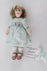"JANE DAVIES artist doll NIADA Phoebe cloth doll 143/155 limited 6"""