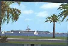 CALIFORNIA, SAN DIEGO AIRCRAFT-CARRIER IN HARBOR PM 1958 (CA-S2)