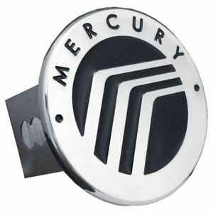 "Mercury Black and Chrome Stainless Steel 2"" Trailer Tow Hitch Cover"