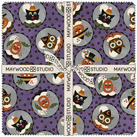 "Happy Jacks Friends Flannel Bonnie Sullivan Maywood Studio 10"" Square Layer Cake"