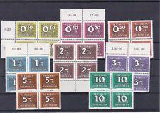 1985/86 Porto 4er Blöcke Neue Nachportomarken Ziffernzeichnung Postfrisch **