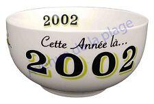 Bol année de naissance 2002 en grès - idée cadeau anniversaire neuf