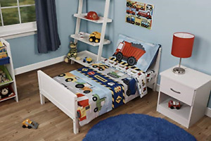 Funhouse 4 Piece Toddler Bedding Set - Includes Quilted Comforter, Fitted Sheet,