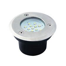 LED Bodeneinbaustrahler GORDO 0.7W SMD Bodeneinbauleuchte rund Edelstahl weiß