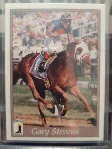 Gary Stevens 1996 Horse Star Jockey. Card 196.