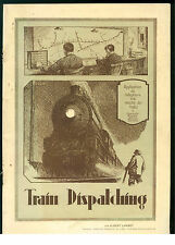 LAMBOT TRAIN DISPATCHING SYSTEM WESTERN ELECTRIC BELL TELEPHONE AUTOGRAFO 1926