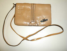 The Cambridge Tasche Mini Handtasche Beige Camel Vintage Leder Hand bag