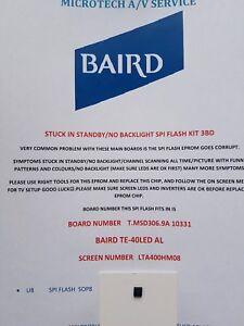 BAIRD TE-40LED AL LTA400HM08 T.MSD306.9A 10331 STUCK STANDBY EPROM KIT READ ADD