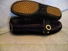 EASY SPIRIT Women's Shoes SIZE 6 Black Suede MOCCASIN LN