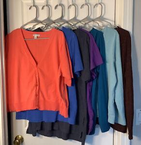 Womens Shirt Lot Size 2X Summer/Fall (7shirts)