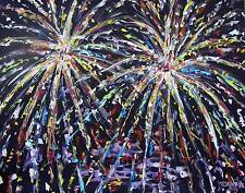 Happy July 4th Original Fine Art PAINTING DAN BYL Modern Contemporary 4x5ft
