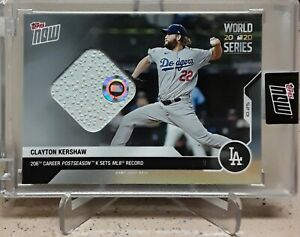 2020 Topps Now World Series CLAYTON KERSHAW Game Used 3RD Base Relic /99