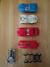 VINTAGE 1960'S  1/32 SCALE SLOT CARS LOT OF (4) Extra Axles with tires