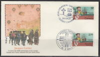 CANADA #1011 32¢ JACQUES CARTIER JOINT ISSUE ON FLEETWOOD CACHET FIRST DAY COVER