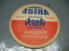 ASTRA  BAVARIA  THICK   BEER   COASTER   BIERDECKEL  VINTAGE ORIGINAL GERMANY