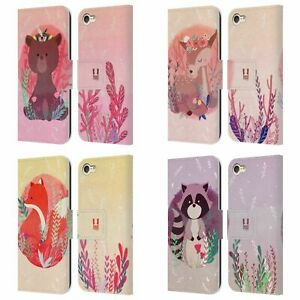 HEAD CASE WOODLAND ANIMALS LEATHER BOOK WALLET CASE FOR APPLE iPOD TOUCH MP3