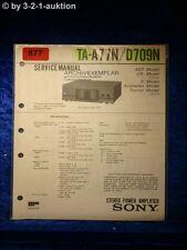 Sony Service Manual TA A77N / D709N Amplifier (#0877)