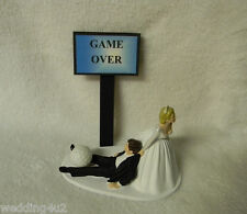 Wedding Reception Party Golfer Golf Ball Sports ~Game Over Sign~ Cake Topper