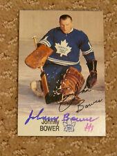 Johnny Bower signed Toronto Maple Leafs Esso Card/Sticker*