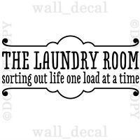 The Laundry Room Sorting Out Life Vinyl Wall Decal Sticker Lettering Quote