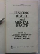 A BROSKOWSKI.E MARKS.S H BUDMAN.LINKING HEALTH AND MENTAL HEALTH.VOL II,S/B 1ST