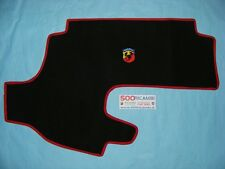 FIAT 500 F/L/R EPOCA COPRI BAULE IN MOQUETTE + LOGO ABARTH COFANO ANTERIORE NEW