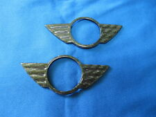 Carbon Trunk Boot Lid&Hood Emblem Badge Overlay for 02-06 MINI COOPER S R50 R53
