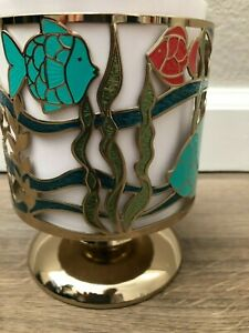 OCEAN / SEA Life 3-Wick Candle Pedestal - Bath & Body Works - NEW - Fish, Coral,