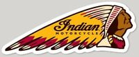 """INDIAN MOTORCYCLE ICONIC LOGO VINTAGE DECAL 3.41"""" x 5.00"""" AMERICANA RRP £9"""