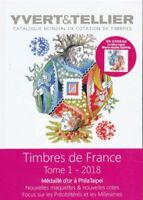 YVERT & TELLIER 2018 CATALOGUE TIMBRES FRANCE-金奖章进行的世界锦标赛的 PHILATAIPEI -台湾-中国