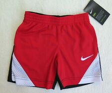 Nike Little Boys' Colorblocked Red/Black Shorts - Size 2T - Nwt - Msrp$24.00