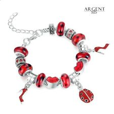 Bracelet Charms Coccinelle Femme Murano Glass Argent 925