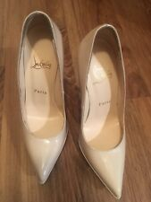 christian louboutin 18 pump pigalle plato nude patent 36 1/2 original price $795