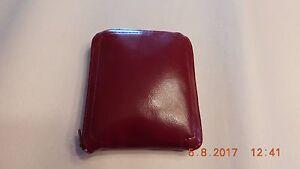 Mahogany Leather/Naugahyde  Fold Up  Shopping Tote Zipper Nylon Pouch Closed