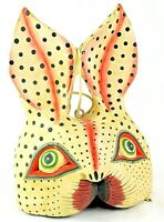 Vintage Hand Made & Hand Painted Paper Mache Easter Rabbit Display Hanging