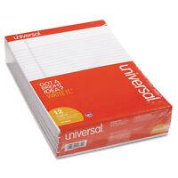 UNIVERSAL Perforated Edge Writing Pad Legal Ruled Letter White 50 Sheet Dozen
