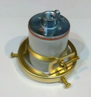 "BRASS PLATED  2 1/4"" Clamp On Lamp Shade Holder PORCELAIN Socket FREE SHIP"