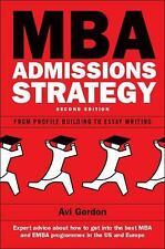 NEW Mba Admissions Strategy by Avi Gordon Paperback Book (English) Free Shipping