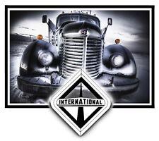 INTERNATIONAL OLD SEMI TRUCK STICKER DECAL GARAGE LABEL MAN CAVE TOOLBOX USA