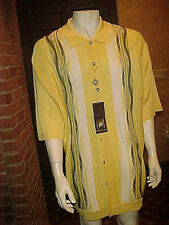Nwt Rare Vintage Mens Creme De Silk Short Sleeve Silk Shirt Heavy Soft Large