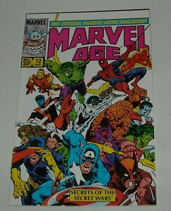 MARVEL AGE # 12 March 1984 SECRET WARS BLACK COSTUME SPIDER MAN VENOM A-TEAM