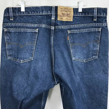 VTG Levis 505 Mens Jeans Orange Tab Straight Leg 42 x 34 Altered 41 x 32.5 USA