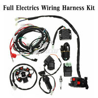 Full Electrics Wiring Harness Loom CDI Coil For GY6 150CC ATV Quad Go Kart